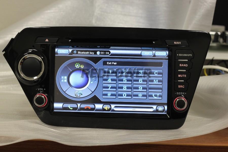 Обновленная штатная магнитола новой версии redpower a106 c gps для kia rio (2011 - 2012)